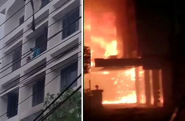 Andhra Pradesh Fire   कोव्हिड सेंटरमध्ये भीषण आग, कोरोनाग्रस्तांसह 11 जणांचा होरपळून मृत्यू