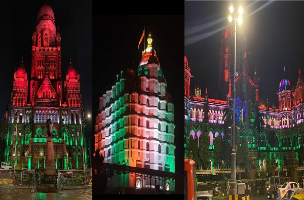 Independence Day 2020 : मुंबईत तिरंगी रंगांची उधळण, रोषणाईची झगमग