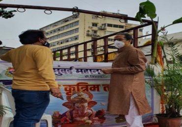 Ganesh Visarjan | गर्दी टाळून शिस्तबद्ध पद्धतीने विसर्जन, मुख्यमंत्र्यांकडून फिरत्या कृत्रिम तलावाची पाहणी