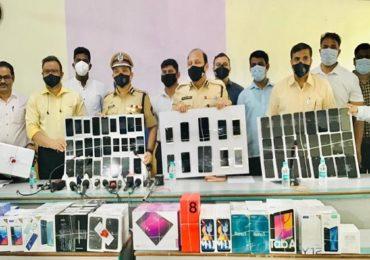 मोबाईल शोरुम फोडणारी टोळी गजाआड, नवी मुंबई पोलिसांकडून तिघांना अटक, 45 लाखांचा मुद्देमाल जप्त