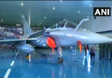 Rafale induction | राफेलचा राज्याभिषेक; राजनाथ सिंह, फ्रान्सच्या संरक्षण मंत्र्यांच्या उपस्थितीत राफेल विमानांचे पूजन