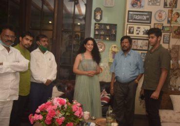 Kangana Ranaut | रामदास आठवले कंगनाच्या घरी, RPI चा कंगनाला पाठिंबा