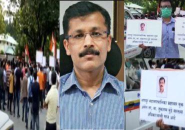 तुकाराम मुंढे मुंबईला रवाना, नागपुरात समर्थकांची घोषणाबाजी, बदलीविरोधात चीड