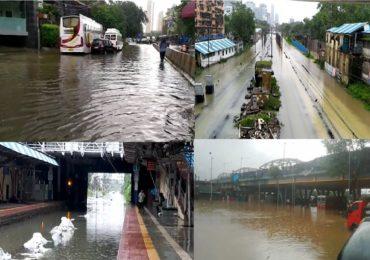 Mumbai Rains LIVE : मुसळधार पावसाने मुंबईत पाणी साचले, लोकल-रस्ते वाहतूक ठप्प