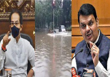 मुंबई तुंबल्यावर बोंबा मारणारे नागपूर, अहमदाबाद जलमय झाल्यावर गप्प का? शिवसेनेची टीका