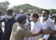 UP Police | राहुल गांधींना उत्तर प्रदेश पोलिसांची धक्काबुक्की; संतप्त कार्यकर्त्यांची पोलिसांविरोधात निदर्शेने