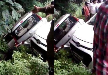 नवी मुंबईत बेलापूर उड्डाणपुलाखाली विचित्र अपघात, 3 गाड्या एकमेकांवर आदळल्या