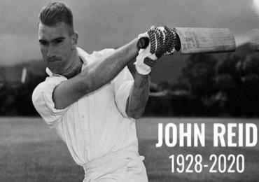 John Reid   न्यूझीलंडचे माजी दिग्गज क्रिकेटपटू जॉन रीड यांचं निधन