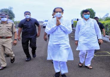 CM Uddhav Thackeray Solapur Visit | मुख्यमंत्री उद्धव ठाकरे  सांगवीच्या दिशेने