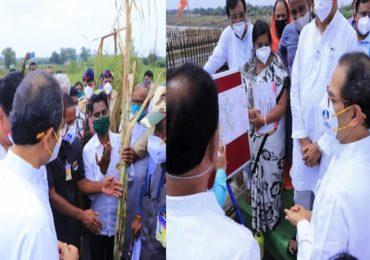 PHOTO : मुख्यमंत्री उद्धव ठाकरे बांधावर, नुकसानीच्या पाहणीसह शेतकऱ्यांना धीर