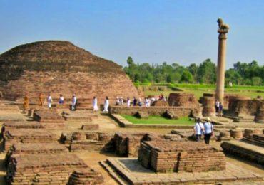 Vaishali: बिहारच्या पुराने ऐतिहासिक अशोक स्तंभावरही संकट, पाण्यामुळे स्तंभ झुकला