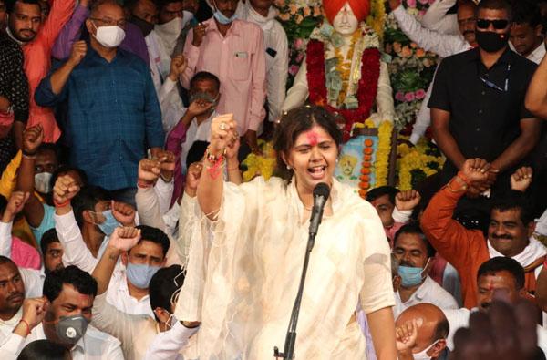 PHOTO | गोपीनाथ गडावर पंकजा मुंडेंचा ऑनलाईन 'दसरा मेळावा'!