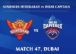IPL 2020, SRH vs DC Live :सनरायजर्स हैदराबादला दुसरा धक्का, ऋद्धीमान साहा आऊट