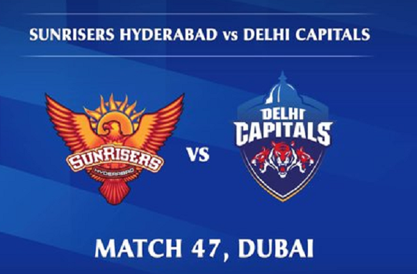 ipl 2020 srh vs dc live score update today cricket match sunrisers hyderabad vs delhi captilas