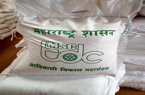 Low quality rice distributed to Adivasi community in Raigad