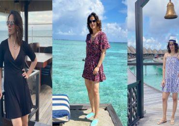 PHOTO : बॅडमिंटनपटू सायना नेहवालचा 'हॉलिडे मूड', पतीसोबत मालदीवला