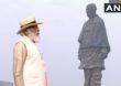 Statue of Unity | राष्ट्रीय एकता दिनानिमित्त मोदींची स्टॅच्यू ऑफ युनिटीला भेट; सरदार पटेलांना अभिवादन!