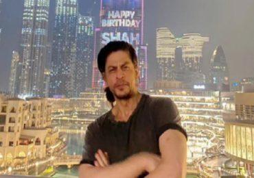 Shah Rukh Khan| वाढदिवसानिमित्ताने किंग खानला खास सरप्राईझ, जगातील उंच इमारतीवर शाहरुखचा जलवा!