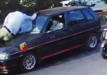 पिंपरीत पोलिसासोबत जीवघेणा प्रकार, गाडी रोखली म्हणून पोलिसाला बोनेटवर बसवून सुसाट प्रवास