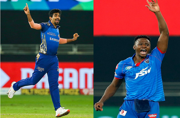 ipl final 2020 mumbai indians vs delhi capitals kagiso rabada and jaspreet bumrah clash for purple cap