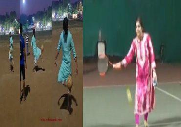अमित ठाकरेंचं फुटबॉल कौशल्य तर शर्मिला ठाकरेंचं टेनिसचं कसब