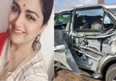 Khushbu Sundar | भाजप नेत्या-अभिनेत्री खुशबू सुंदर कार अपघातातून बालंबाल बचावल्या