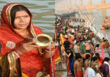 Photos | Chhath Puja 2020: छठ पूजेचं महापर्व सुरु, पाटणा येथे गंगा घाटावर गर्दी
