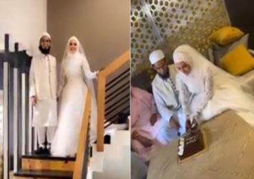Sana Khan | धर्माचा मार्ग अवलंबत मनोरंजन विश्वाला 'अलविदा' म्हटलेल्या सलमानच्या अभिनेत्रीचा 'निकाह'!