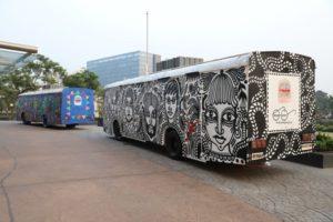 Cycle toilet art buses in Navi Mumbai