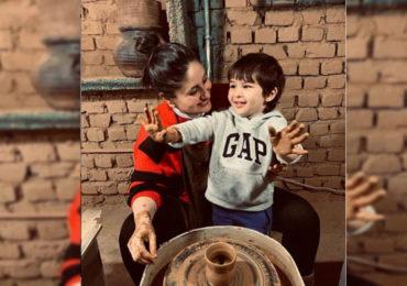 PHOTO | आई करिना कपूरकडून तैमुरला मातीची भांडी बनवण्याचे प्रशिक्षण, पाहा त्यांचे धमाल फोटो!