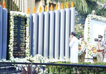 26/11 च्या मुंबईवरील दहशतवादी हल्ल्यातील शहिदांना मुख्यमंत्री उद्धव ठाकरेंकडून आदरांजली