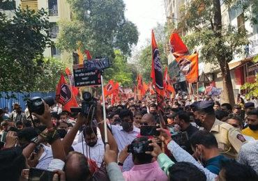 MNS Morcha Against Electricity Bill ! राज्यभरात मनसेचा आंदोलनाचा 'झटका'; मुंबईत विराट मोर्चा, तर ठाण्यात पोलीस-मनसे कार्यकर्त्यांत बाचाबाची