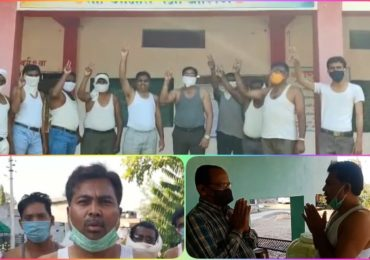 विधान परिषद निवडणूक: महात्मा गांधींचा आदर्श घेत वाशिमच्या उपेंद्र पाटलांचे विना शर्ट प्रचार अभियान