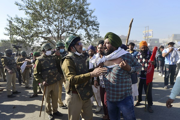 Delhi Chalo march against the new farm laws in New Delhi