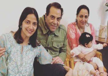 Ahana Deol | धर्मेंद्र-हेमा मालिनीच्या घरी चिमुकल्या पाहुण्यांचे आगमन, अहानाला जुळी कन्यारत्ने!