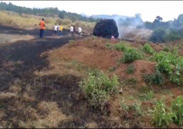 PHOTO | भीषण आगीत भाताचं पीक जळून खाक; शेतकऱ्याला अडीच लाखाचा फटका