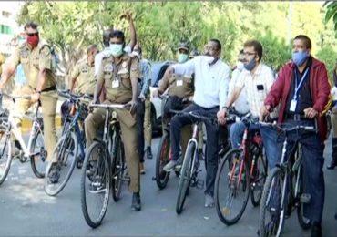 राष्ट्रीय प्रदूषण नियंत्रण दिनानिमित्त नागपूर महापालिका अधिकारी आणि कर्मचाऱ्यांची सायकलवारी!
