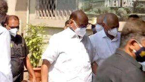 NCP Chief Shard Pawar take Covid 19 vaccine in Mumbai