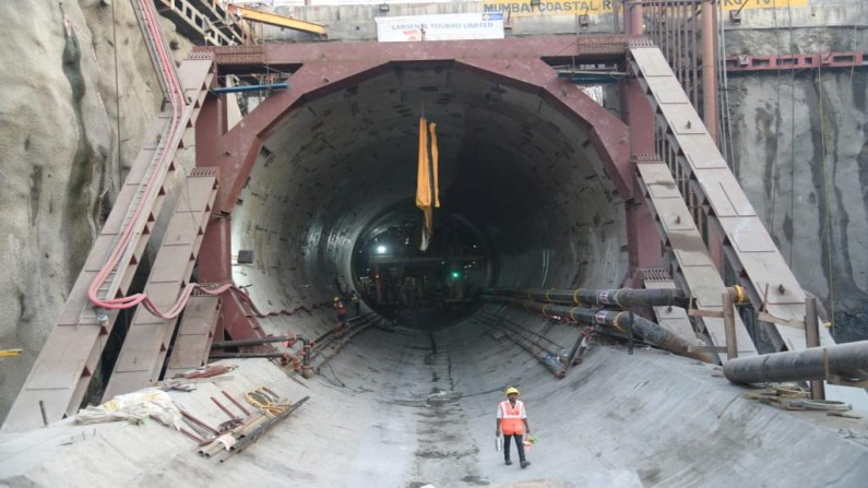 Mumbai Coastal road project 100 meter tunnel work completed