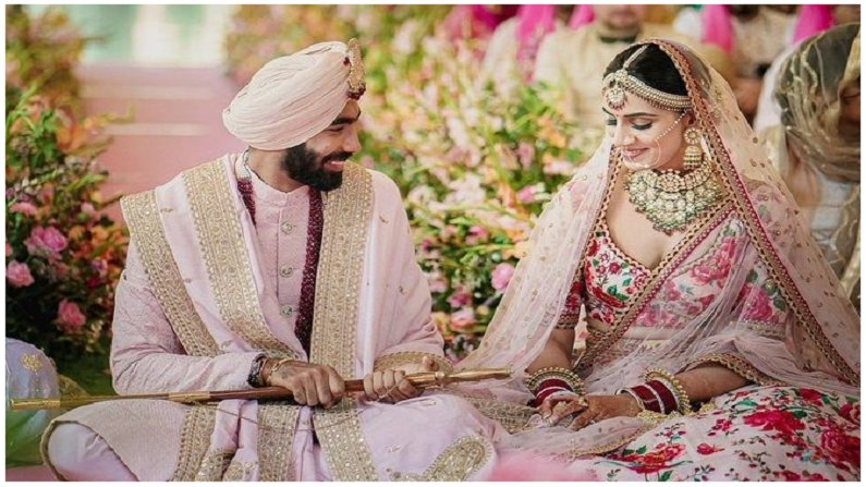 jasprit bumrah, sanjana ganesan, jasprit bumrah wife, sanjana ganesan husband, cricketer Jasprit Bumrah, Sports anchor Sanjana Ganesan, goa, jasprit bumrah marriage, sanjana ganesan marriage,
