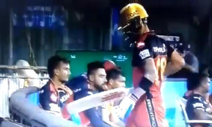 Virat Kohli takes anger on chair