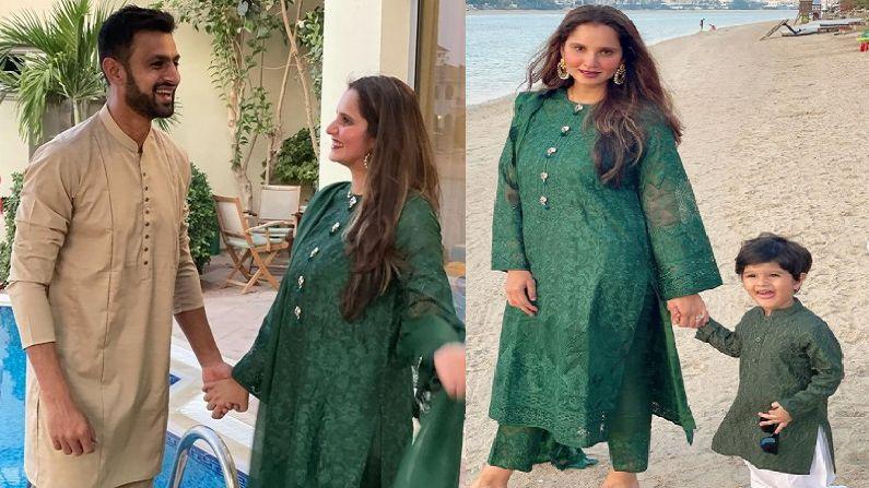 Indian Tennis Star Saniya Mirza And Pakistani Cricketer Shoaib Malik Eid Celebration In Dubai Special photo