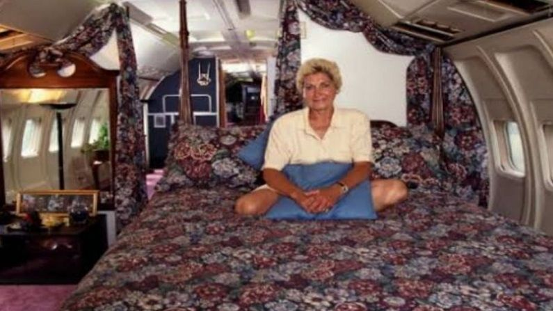 woman converted plane into house