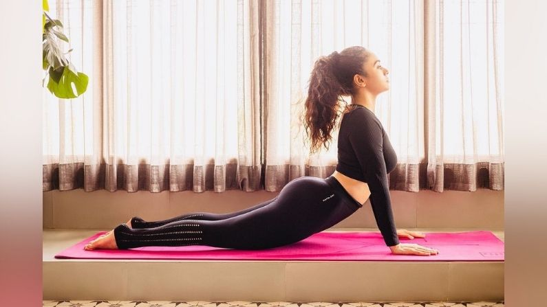 Amruta Khanvilkar's Yoga Session