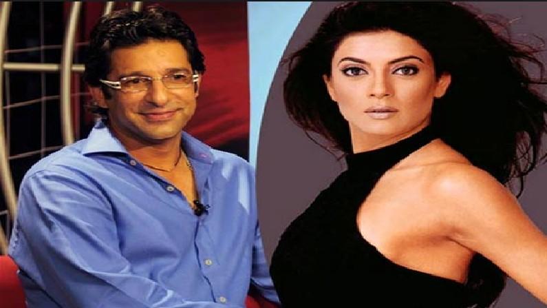 Former Pakistan Captain Wasim Akram Miss Universe Sushmita Sen relationship