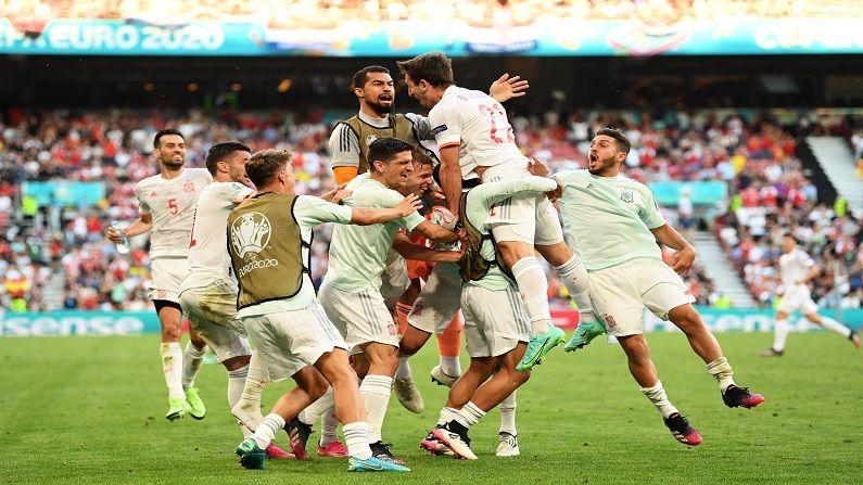 Euro 2020 : रोमहर्षक सामन्यात स्पेनचा विजय, क्रोएशियाला नमवत नवा रेकॉर्डही केला नावे