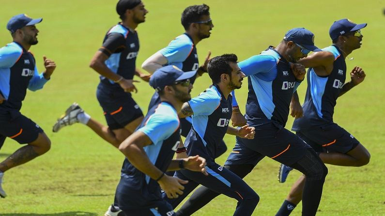 Chahal and team practice